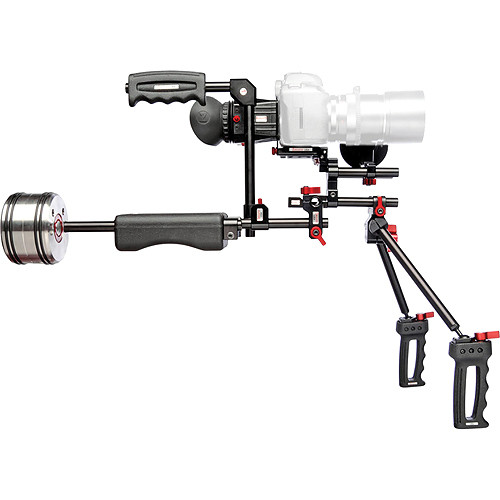 Zacuto Double Barrel Dual Handheld DSLR Rig (Black)