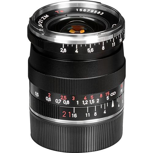 ZEISS Biogon T* 21mm f/2.8 ZM Lens (Black)
