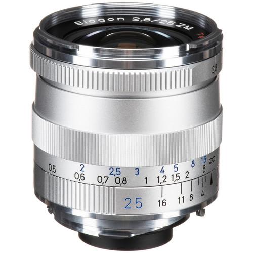 Zeiss Biogon T* 25mm f/2.8 ZM Lens (Silver)