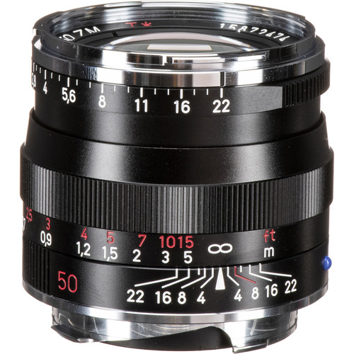 Zeiss Planar T* 50mm f/2 ZM Lens (Black)