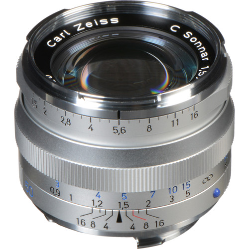 Zeiss 50mm f/1.5 ZM Lens - Silver