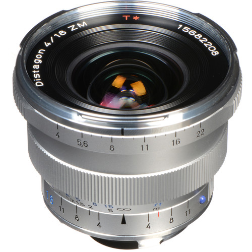 Zeiss Distagon T* 18mm f/4 ZM Lens (Silver)