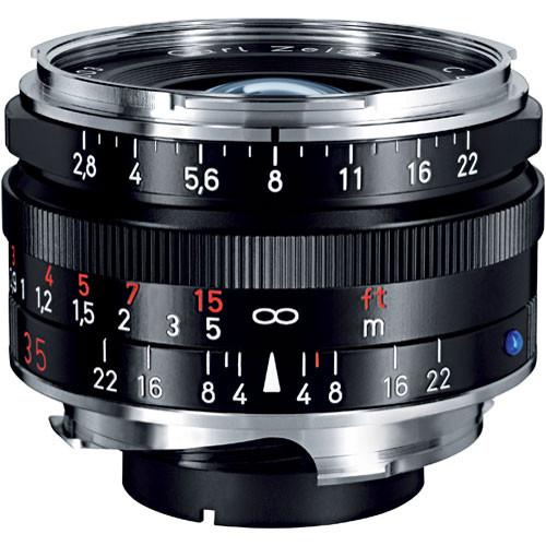 Zeiss Wide Angle 35mm f/2.8 C Biogon T* ZM Manual Focus Lens - Black