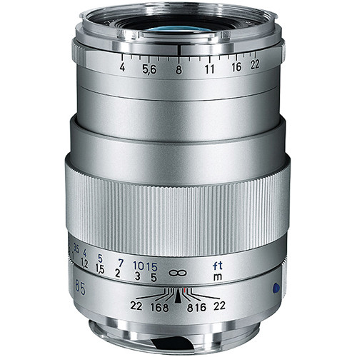 Zeiss 85mm f/4 Tele-Tessar T* ZM Manual Focus Lens - Silver