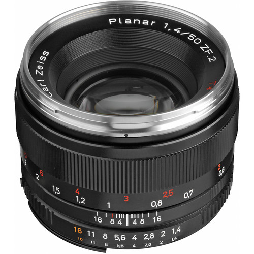 Zeiss Planar T* 50mm F/1.4 ZF.2 Lens for Nikon F-Mount Cameras