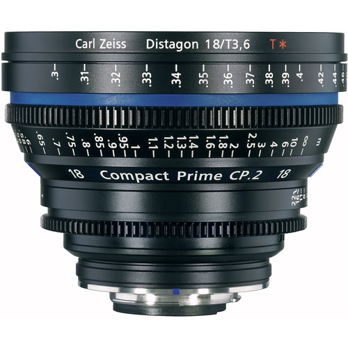 Zeiss Compact Prime Distagon 18mm/T3.6 Cinema Lens