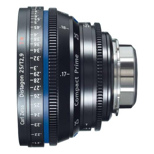 Zeiss Compact Prime Distagon 25mm/T2.9 Cinema Lens