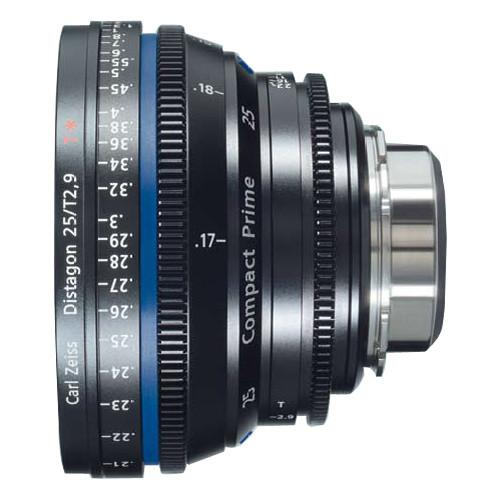 Zeiss Compact Prime Distagon 25mm/T2.9 Cinema Lens