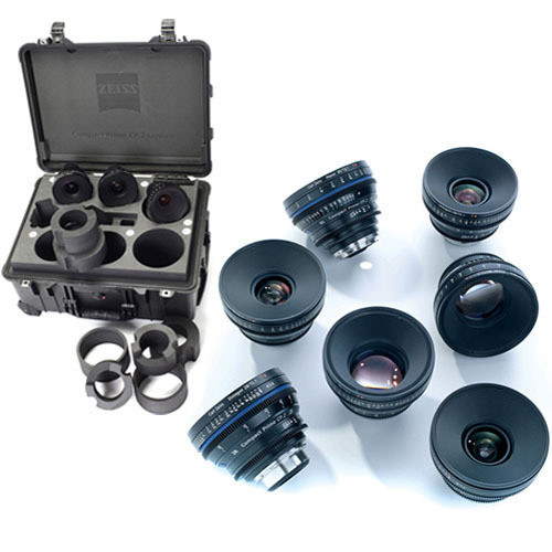 ZEISS Compact Prime CP.2 Seven-Lens Kit (PL Mount) with Two Transport Cases