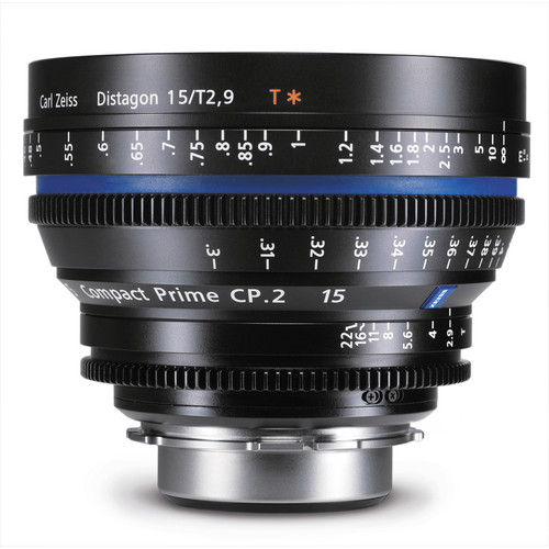 Zeiss Compact Prime CP.2 15mm/T2.9 F Mount with Imperial Markings