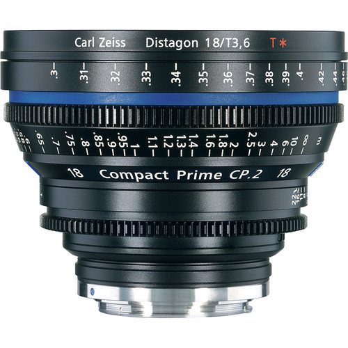 Zeiss 18mm/T3.6 CP.2 Compact Prime Cine Lens with EF Mount