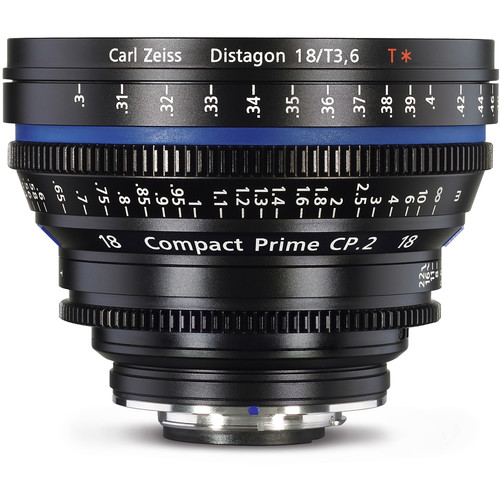 Zeiss 18mm/T3.6 CP.2 Compact Prime Cine Lens with E Mount