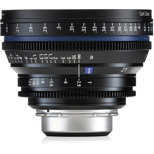 ZEISS 21mm T/2.9 CP.2 Compact Prime Cine Lens with E Mount (Markings in Feet)