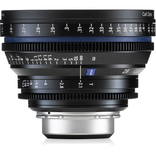 Zeiss Compact Prime CP.2 28 / T2.1 Cine Lens with Interchangeable Mount