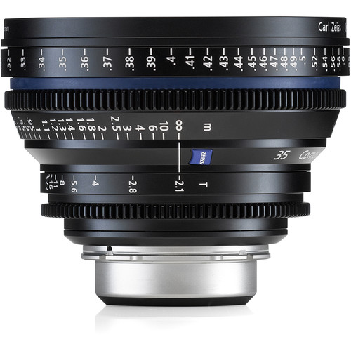 ZEISS Compact Prime CP.2 35 / T2.1 Cine Lens with Interchangeable Mount