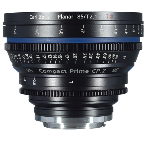 ZEISS Compact Prime CP.2 85 / T2.1 Cine Lens with Interchangeable Mount