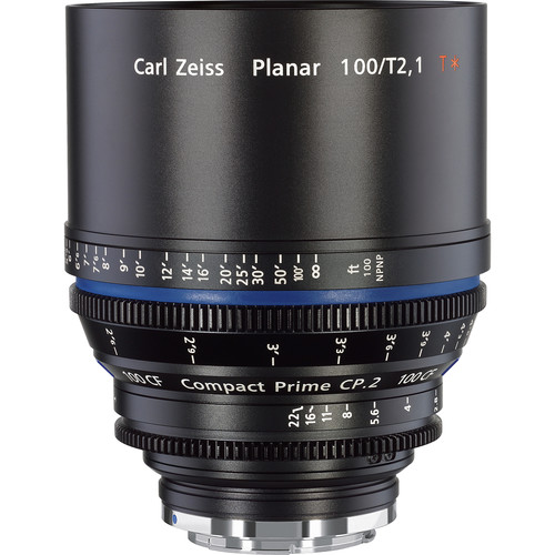 Zeiss Compact Prime CP.2 100 / T2.1 Cine Lens with Interchangeable Mount