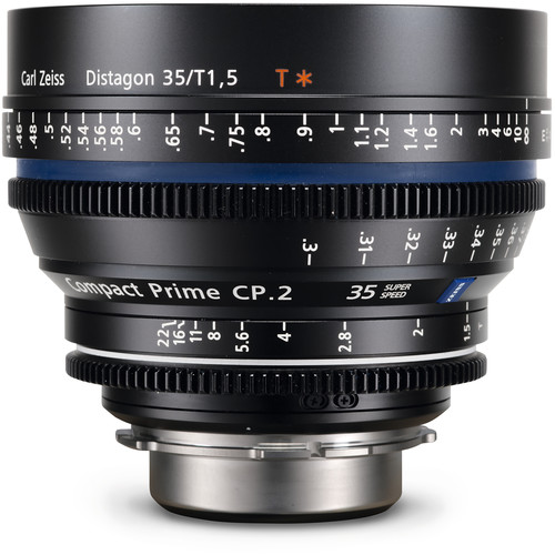 Zeiss Compact Prime CP.2 35mm/T1.5 Super Speed MFT Mount with Imperial Markings