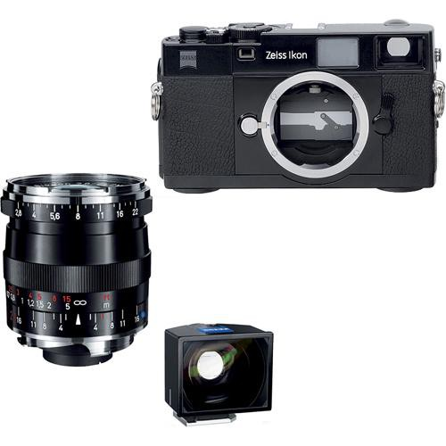 Zeiss Zeiss Ikon Rangefinder Film Camera, 21mm f/ 2.8 Biogon T* ZM Lens, 21mm ZI Viewfinder Bundle (Black)