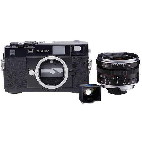 Zeiss Ikon Rangefinder 35mm Film Camera, 21mm f/4.5 C Biogon T* ZM Lens, 21mm ZI Viewfinder Kit (Black)