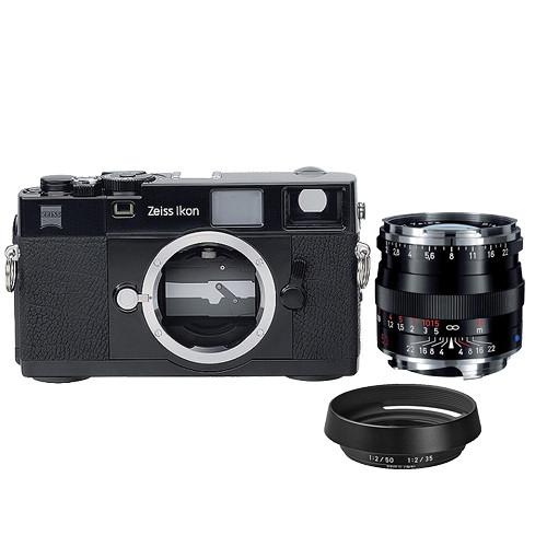ZEISS Ikon Rangefinder Film Camera, 50mm f/2 Planar T* ZM Lens Bundle (Black)