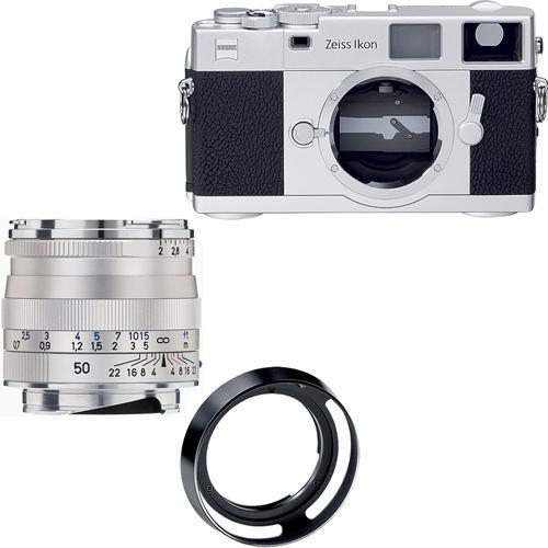 Zeiss Ikon Rangefinder Film Camera, 50mm f/2 Planar T* ZM Lens Bundle (Silver)