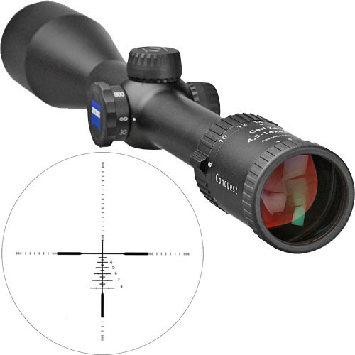 Zeiss 4.5-14x44 AO MC Conquest Riflescope (Matte Black)