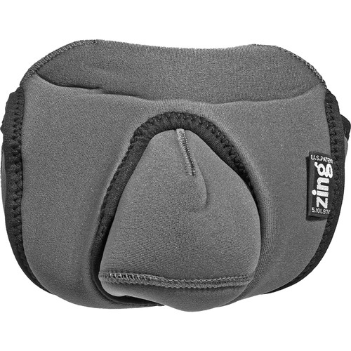 Zing Designs Large DSLR Reversible Camera Cover (Gray)