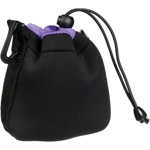 Zing Designs SPB1 Small Drawstring Pouch (Black/Purple)