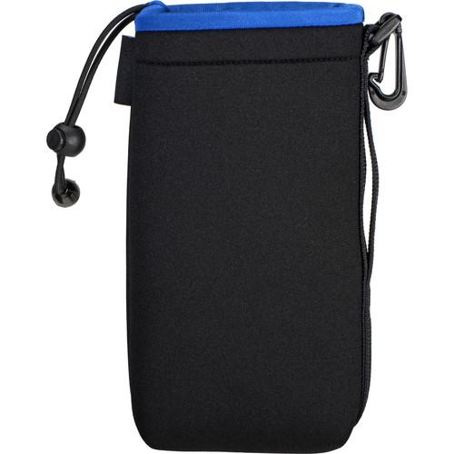Zing Designs LPB1 Large Drawstring Pouch (Black with Blue Trim)