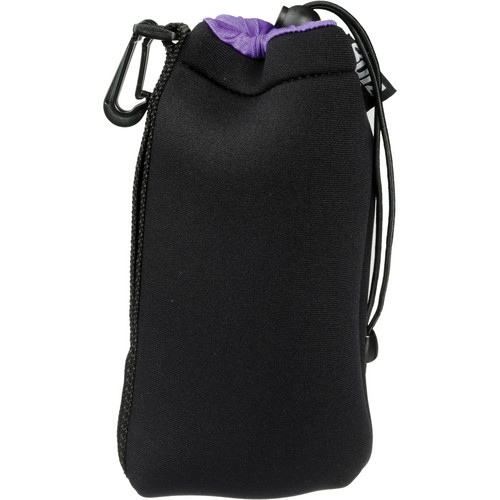 Zing Designs LPP1 Large Drawstring Pouch (Black with Purple Trim)