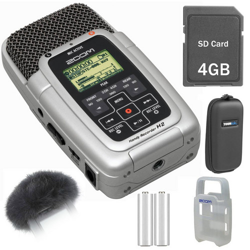 Zoom H2 Ultra-Portable Digital Audio Recorder Value Pack Kit