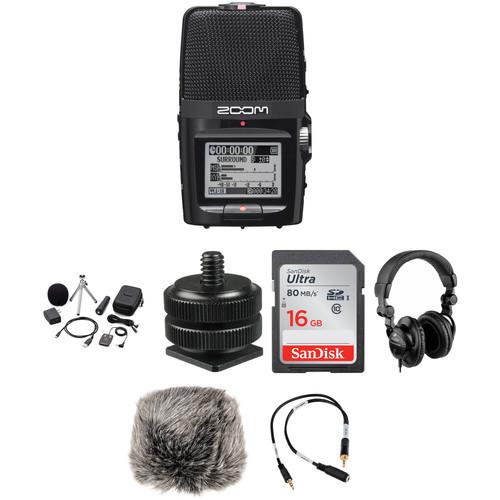 Zoom H2n On-Camera DSLR Audio Kit