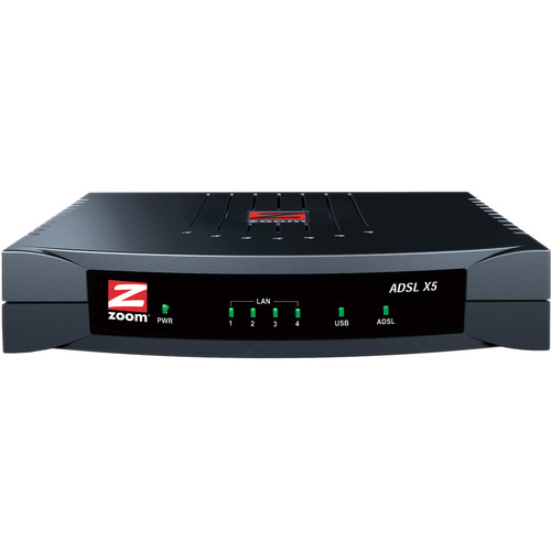 Zoom Telephonics X5 ADSL 2/2+ Modem with 4-port Router