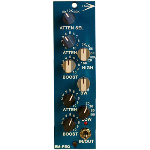 A-Designs EM-PEQ 500 Series Pultec EQP-1A-Style 3-Band Equalizer