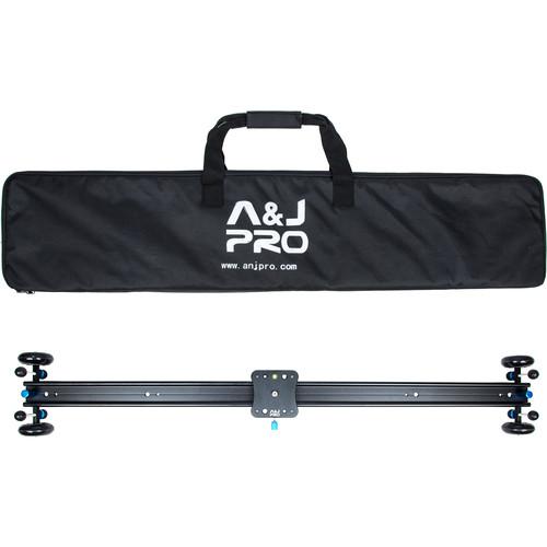 """A&J PRO Moving Dolly Track Camera Slider (39.4"""" Sliding Length, 22 Pound Payload)"""