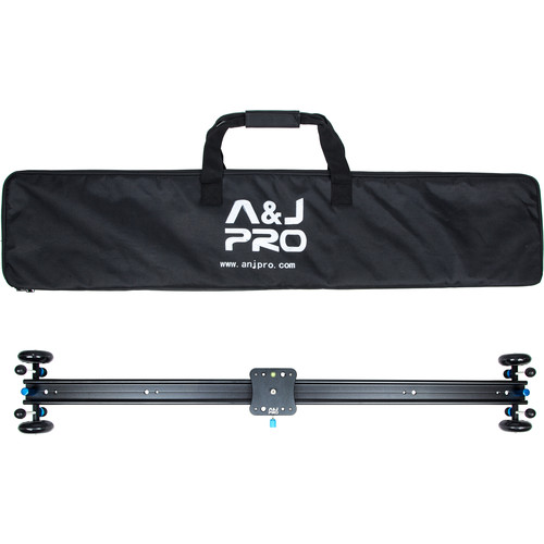 "A&J PRO Moving Dolly Track Camera Slider (39.4"" Sliding Length, 22 Pound Payload)"