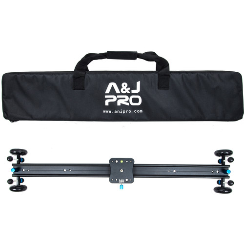 """A&J PRO Moving Dolly Track Camera Slider (29"""" Sliding Length, 22 Pound Payload)"""