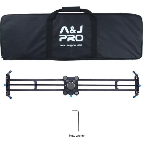 "A&J PRO Portable Parallax Camera Slider with Carbon Fiber Rail (47.2"")"
