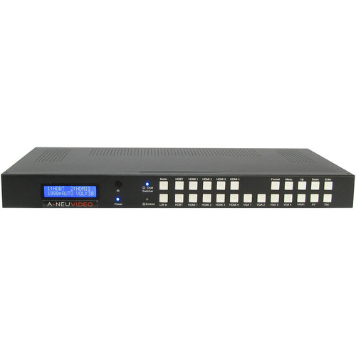 A-Neuvideo Multi-Format Video Presentation Scaler Switch with Audio, Transmitter & Receiver