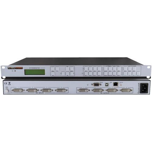 A-Neuvideo 4 x 4 DVI Quad Matrix Switcher Video Wall Processor