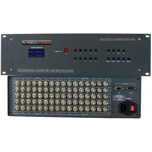 A-Neuvideo 8x2 RGB Serial Matrix Switcher with Audio