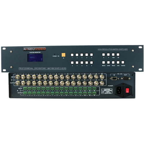 A-Neuvideo 24x16 AV Serial Matrix Switcher