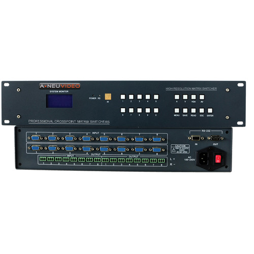 A-Neuvideo 24x4 VGA Serial Matrix Switcher with Audio