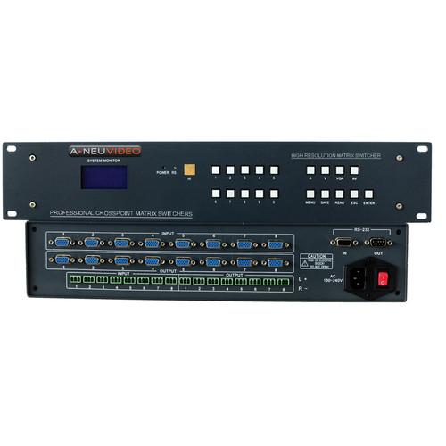 A-Neuvideo 8x2 VGA Serial Matrix Switcher with Audio