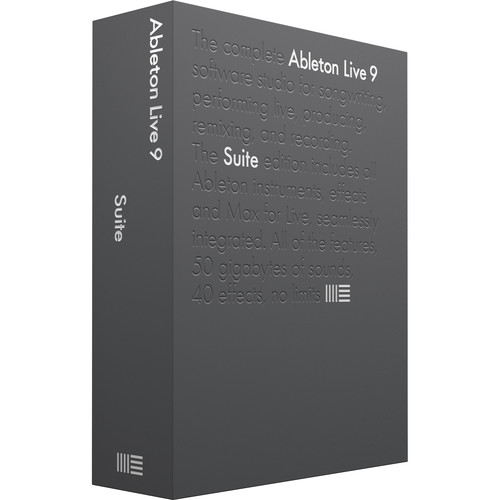 Ableton Live 9 Suite - Music Production Software (Educational Institution 5+ Site Licenses, Boxed)