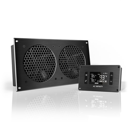 AC Infinity AIRPLATE T7 A/V Cabinet Dual-Fan Cooling System