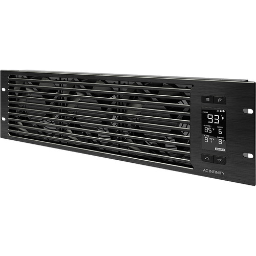 AC Infinity CLOUDPLATE T9 PRO Quiet Rack Cooling Fan System (3 RU, Exhaust)