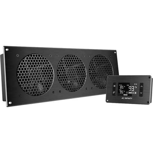 AC Infinity AIRPLATE T9 A/V Cabinet Triple-Fan Cooling System
