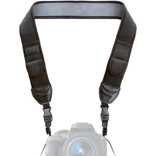 USA GEAR USA Gear Camera Strap with Adjustable Anti-Slip Neoprene Cushion and Storage Pockets